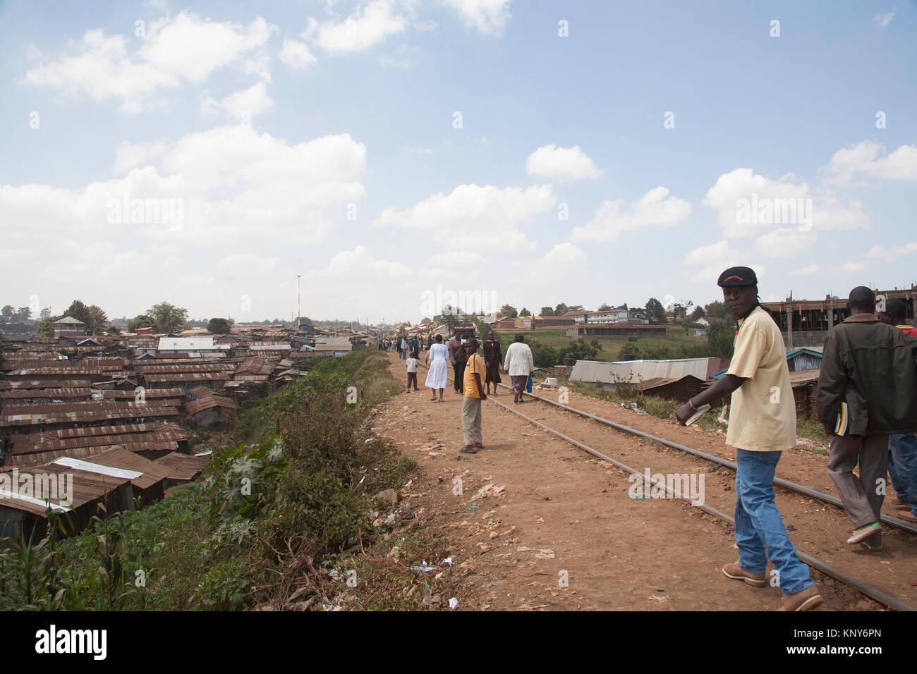 Kibera slums, Nairobi, Kenya, East Africa Stock Photo