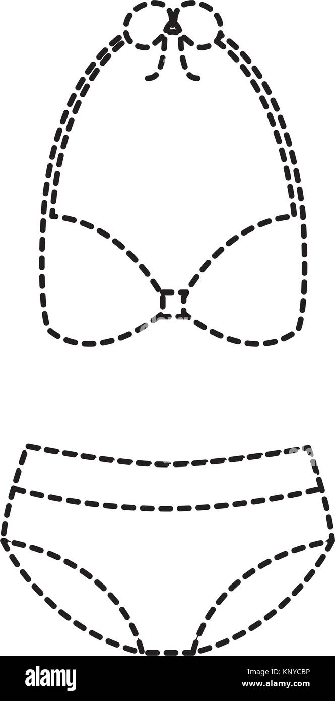 bikini swimsuit fashion clothes accessory icon - Stock Image