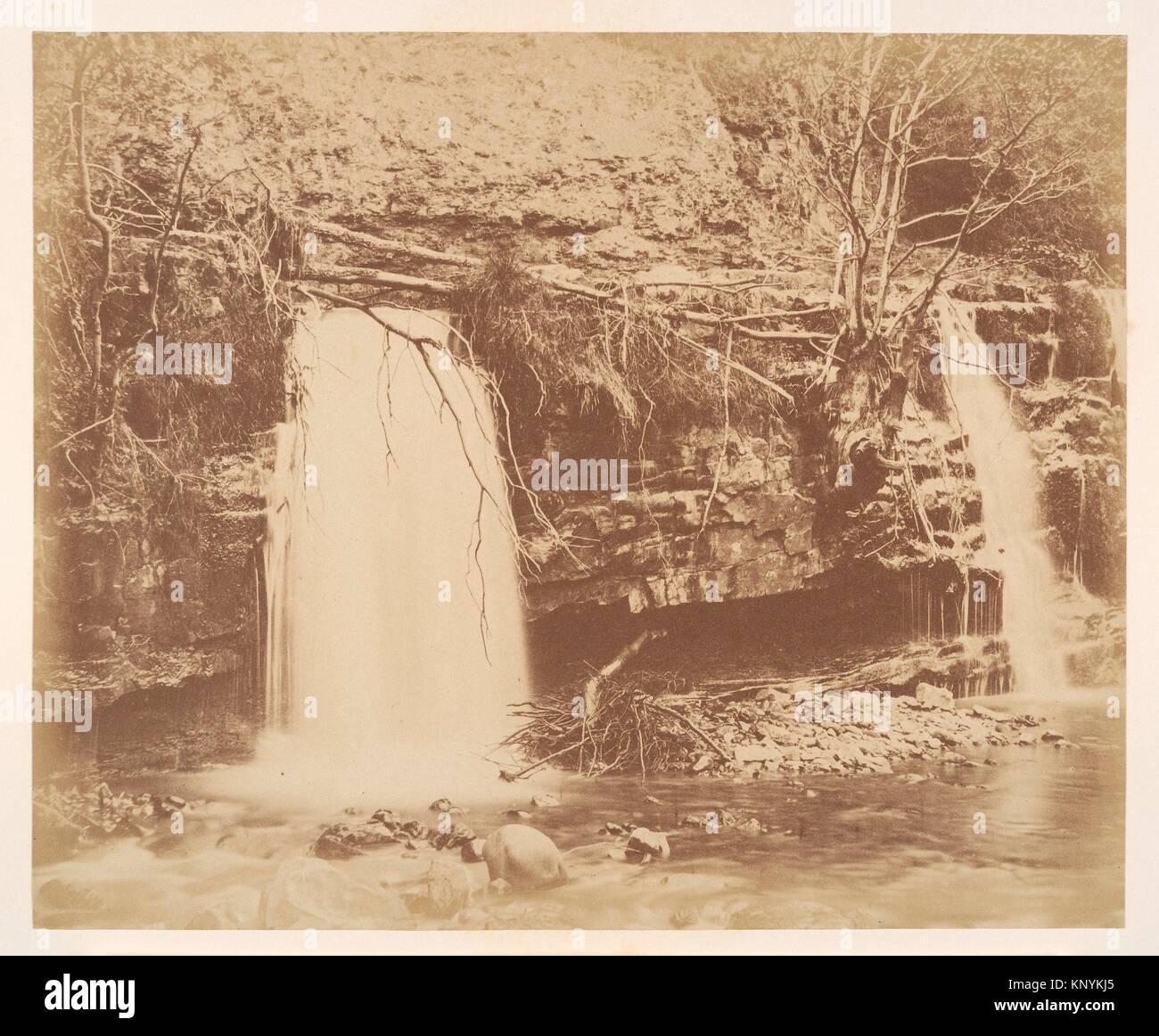 The Lower Fall. Artist: G. B. Gething (British); Date: 1856; Medium: Albumen silver print; Classification: Photographs; - Stock Image