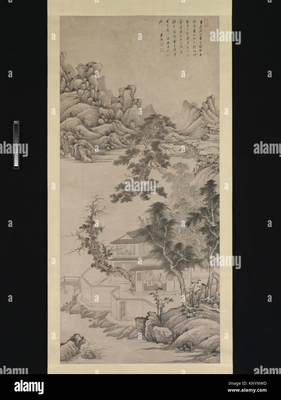 """清 王é'' 倣巨ç""""¶ã€Šæºªå±±é«˜å£«åœ - Stock Image"""