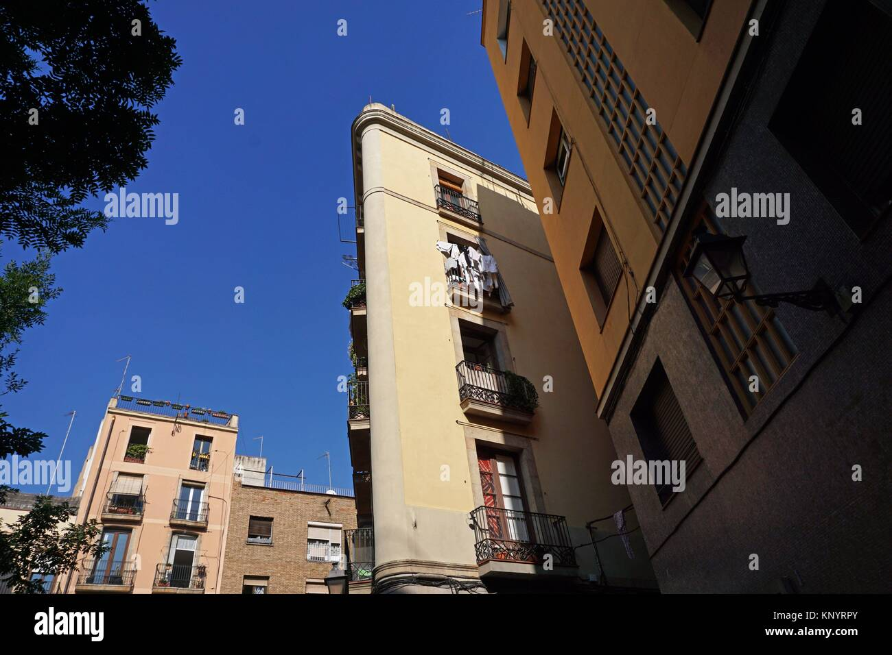 Ciutat Vella buildings. Barcelona, Catalonia, Spain, Europe. - Stock Image