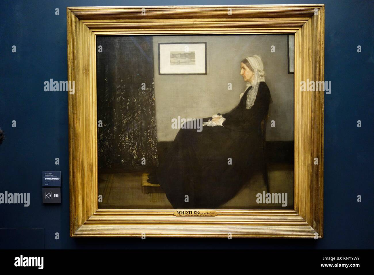 Portrait of the artist's mother. 1871. James Abbott McNeil Whistler. Orsay Museum. Paris. France. Europe. - Stock Image