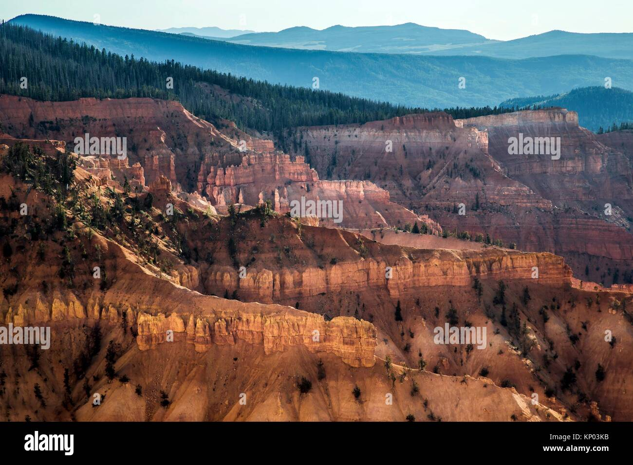 Erosion and time have shaped the sandstone landscape at Cedar Breaks National Monument in Southern Utah, USA. - Stock Image