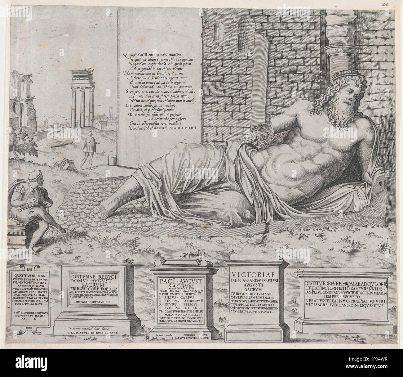 Speculum Romanae Magnificentiae: Marforius. Series/Portfolio: Speculum Romanae Magnificentiae; Artist: Attributed - Stock Image