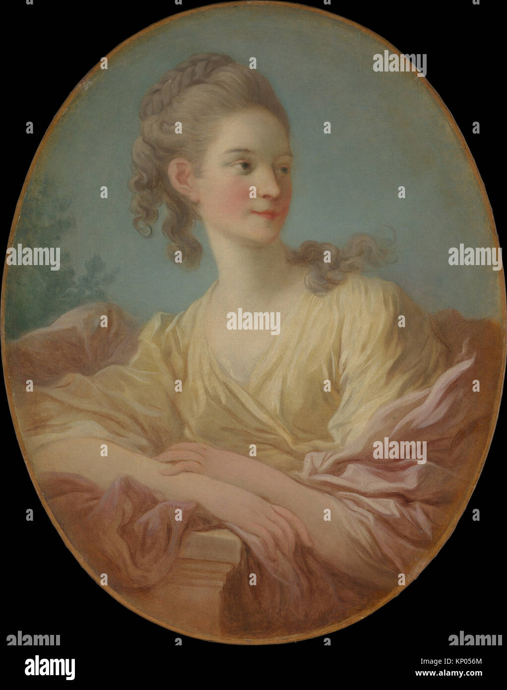 Portrait of a Young Woman. Artist: Jean Honoré Fragonard (French, Grasse 1732-1806 Paris); Date: 1770s; Medium: - Stock Image