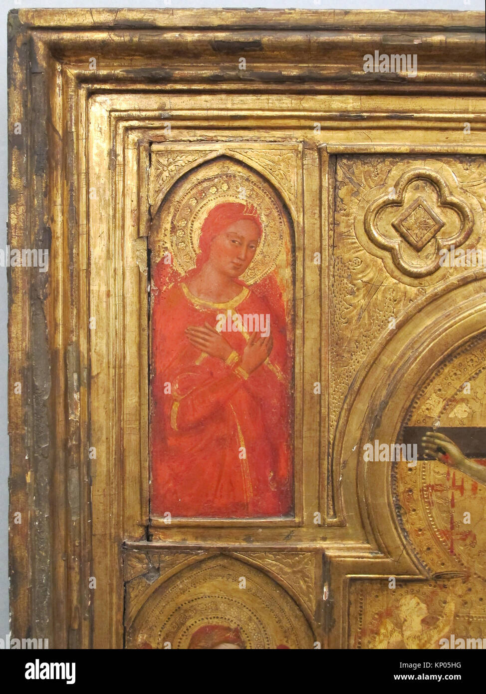 Six Angels. Artist: Jacopo di Cione (Italian, Florence, active ca. 1360-1400); Date: ca. 1365; Medium: Tempera on - Stock Image