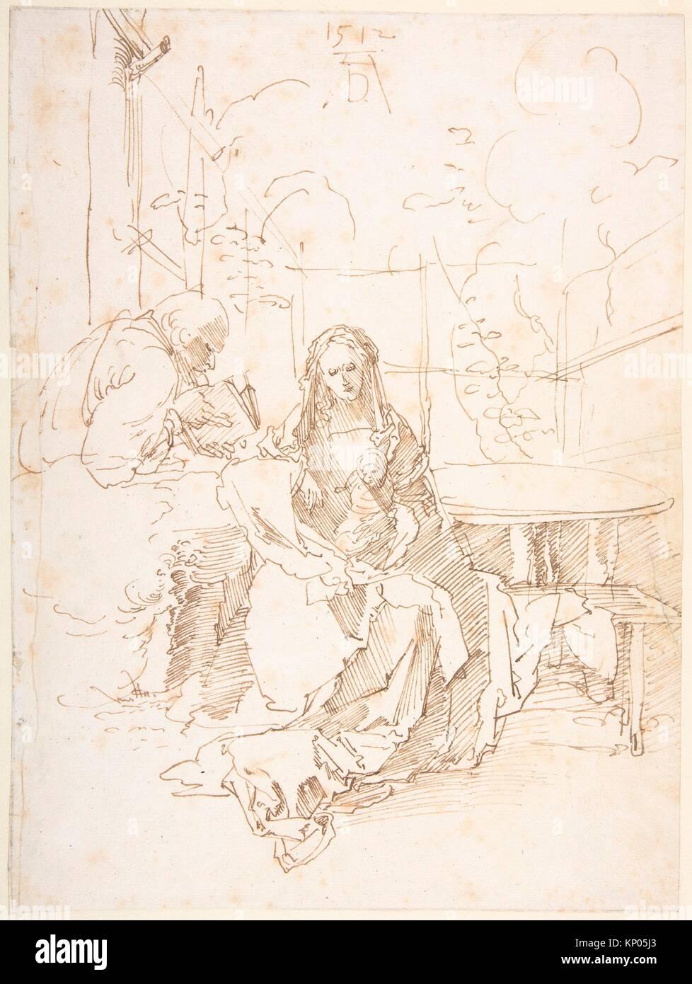 The Holy Family in an Enclosed Garden. Artist: Albrecht Dürer (German, Nuremberg 1471-1528 Nuremberg); Date: - Stock Image