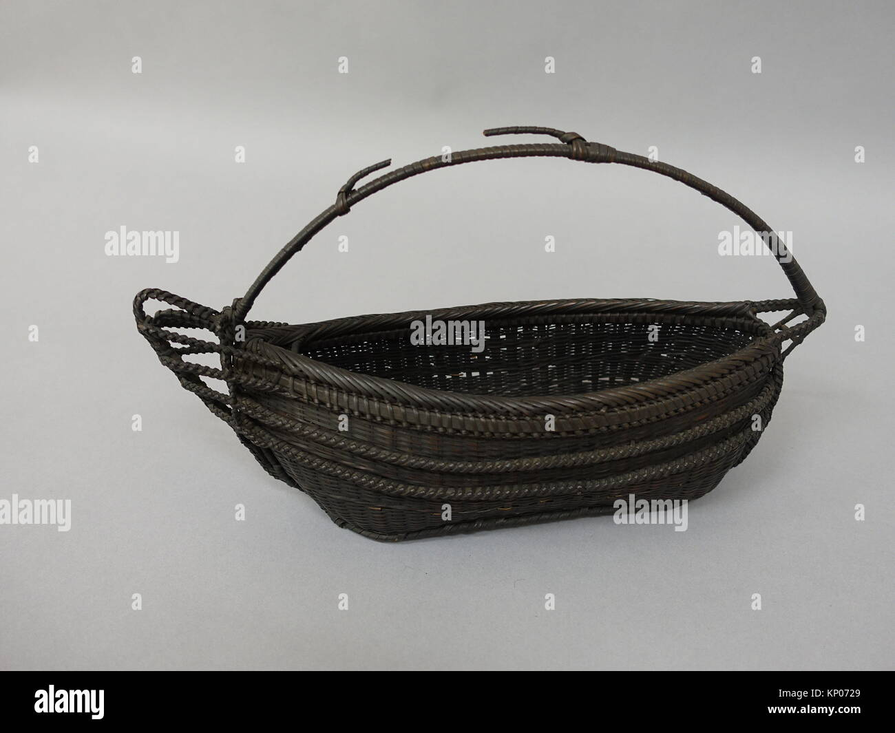 Boat-Shaped Basket. Period: Edo (1615-1868) or Meiji (1868-1912) period; Date: 19th century; Culture: Japan; Medium: Stock Photo
