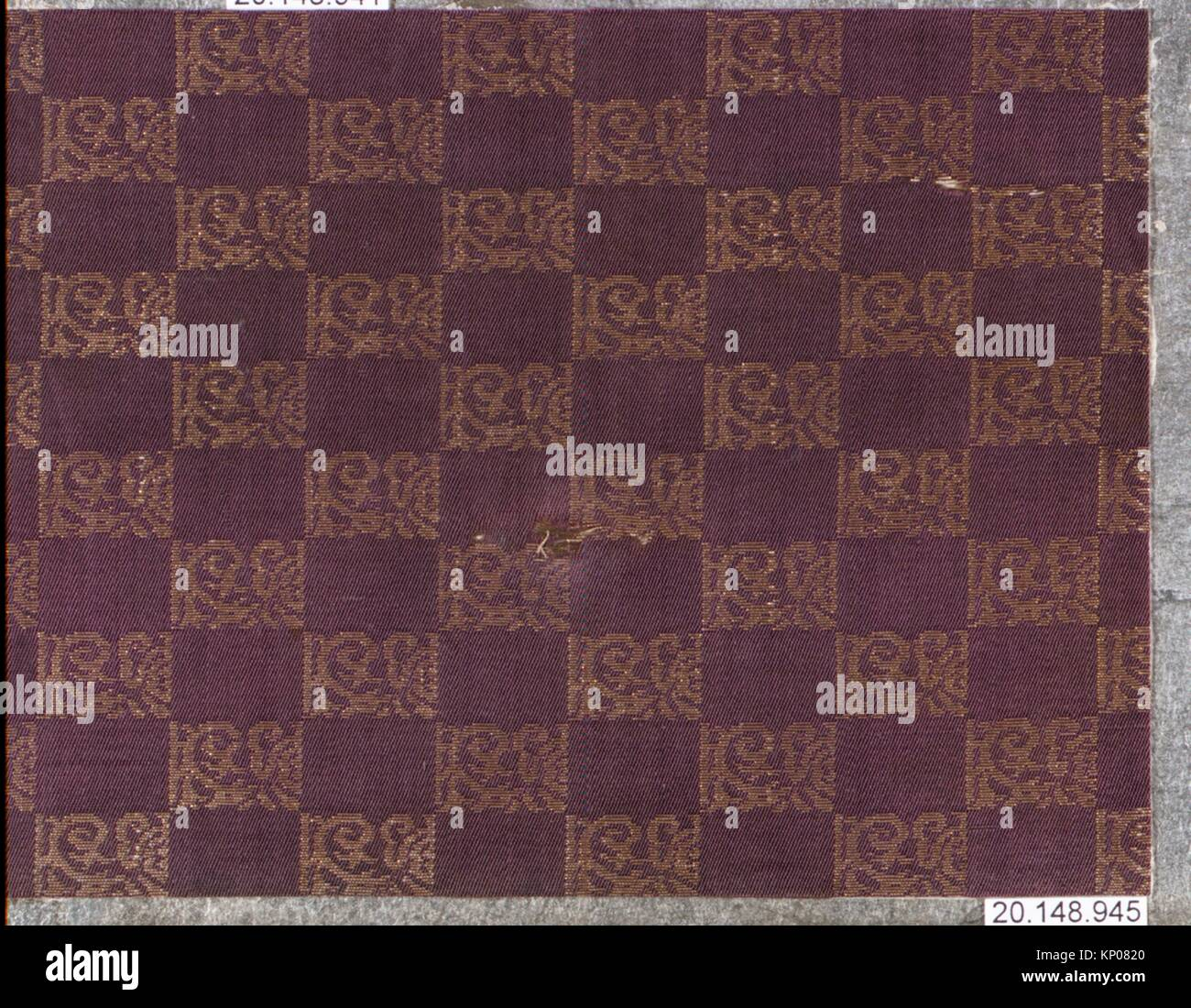 Piece. Date: 17th century; Culture: Japan; Medium: Silk / Compound weave; Dimensions: 4 1/2 in. x 6 in. (11.4 x Stock Photo