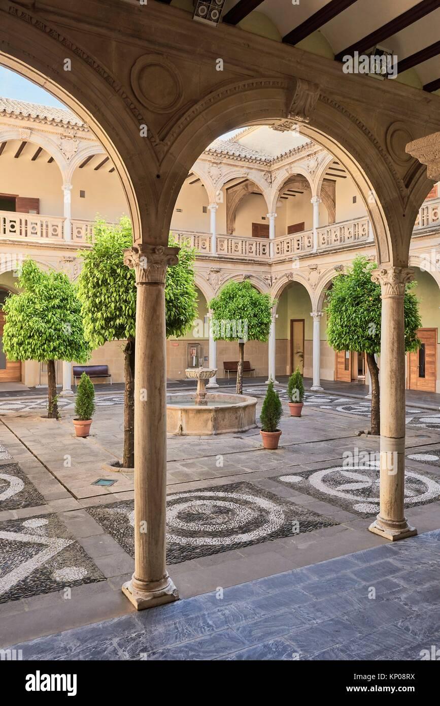 Jabalquinto palace, Baeza, Jaen province, Andalusia, Spain. - Stock Image