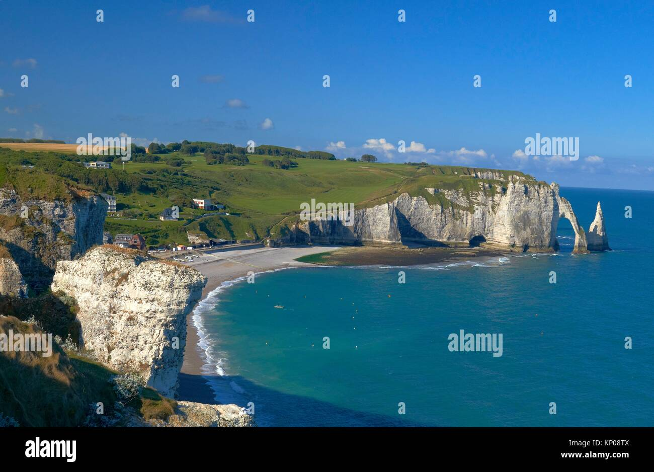 Etretat Aval Cliff Falaise D Aval Natural Arch And Stone Beach