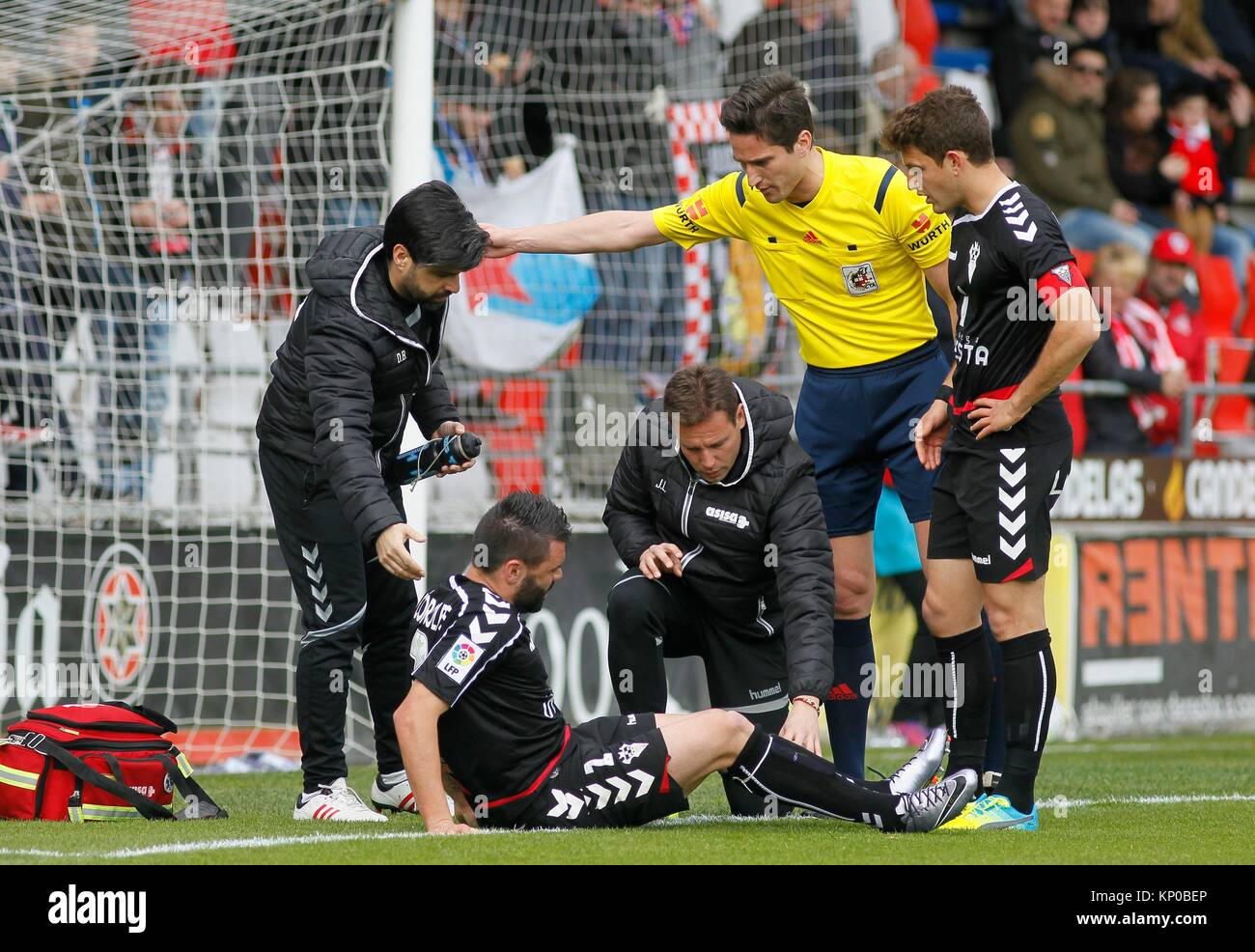Football match League second division professional football. Anxo Carro played at the stadium, Lugo vs Albacete - Stock Image