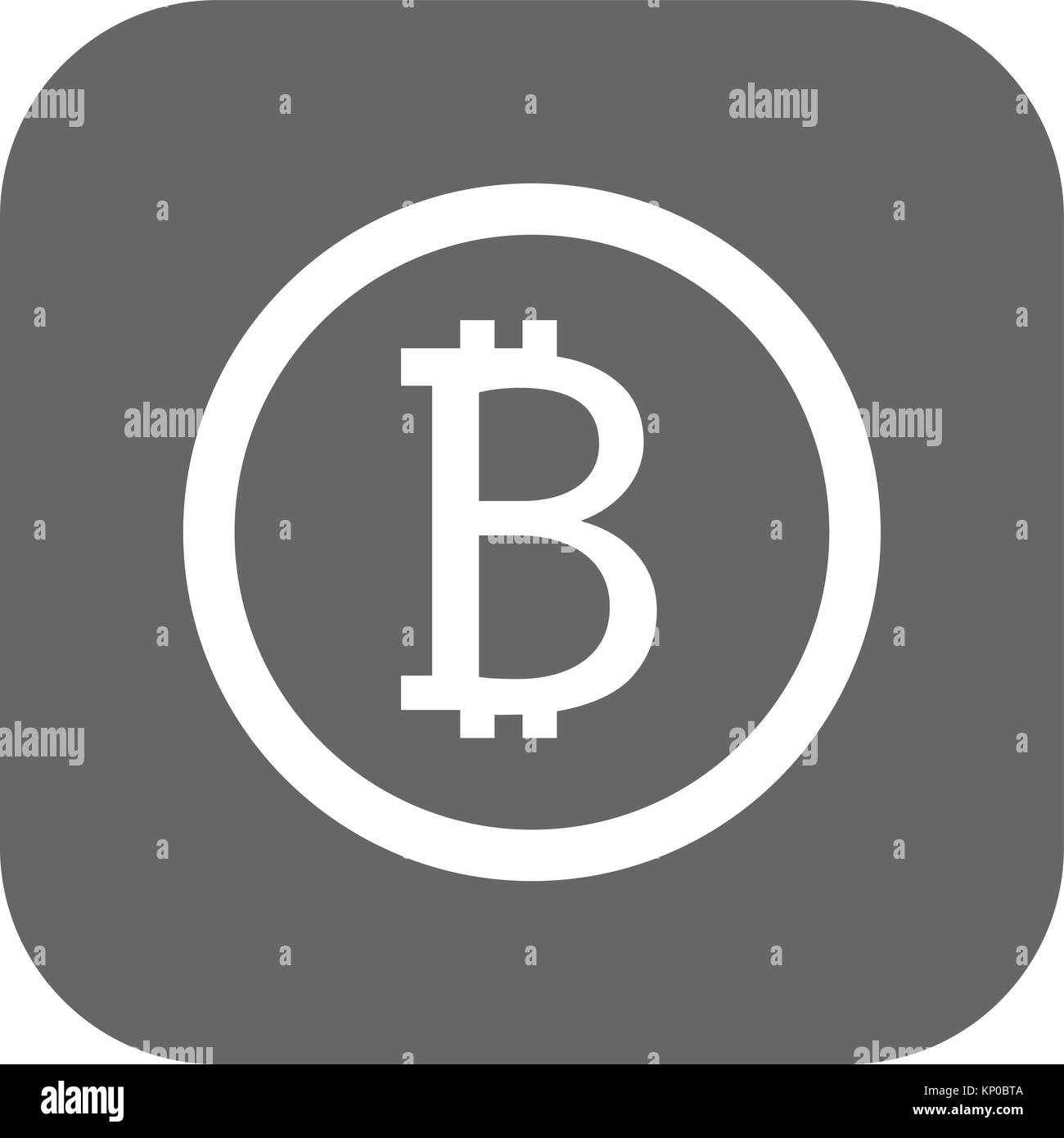 Bitcoin sign icon for internet money. Crypto currency symbol and coin image for using in web projects or mobile - Stock Image