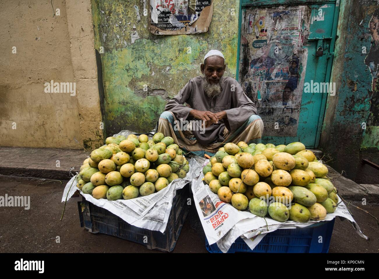 Mango seller, Dhaka, Bangladesh. - Stock Image
