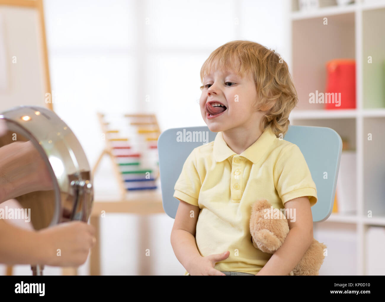 speech therapy exercises - Stock Image