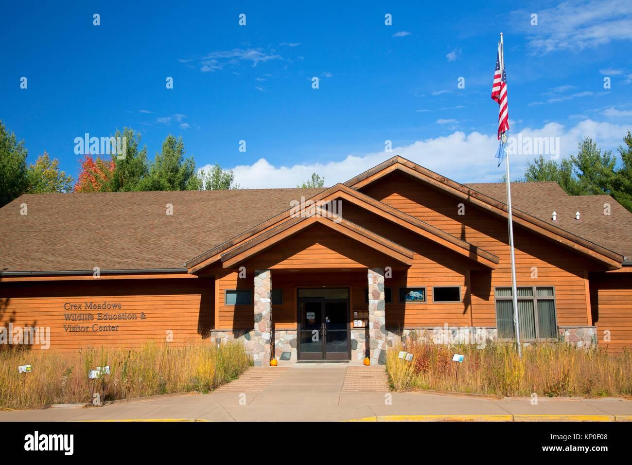 Visitor Center, Crex Meadows Wildlife Area, Wisconsin. - Stock Image