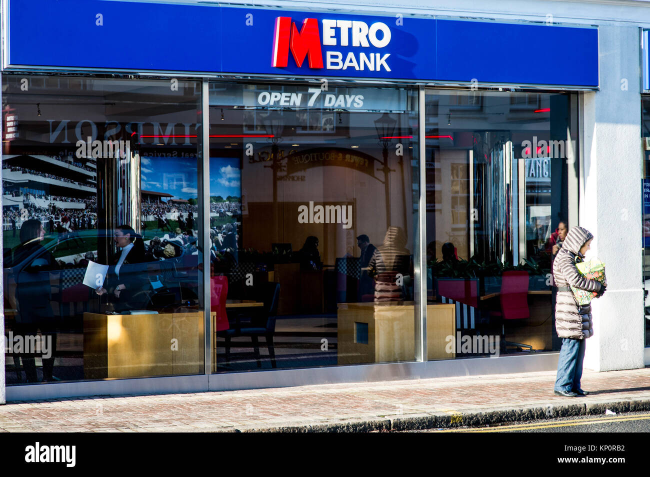 Metro Bank High Street Branch Financial Service Industry - Stock Image