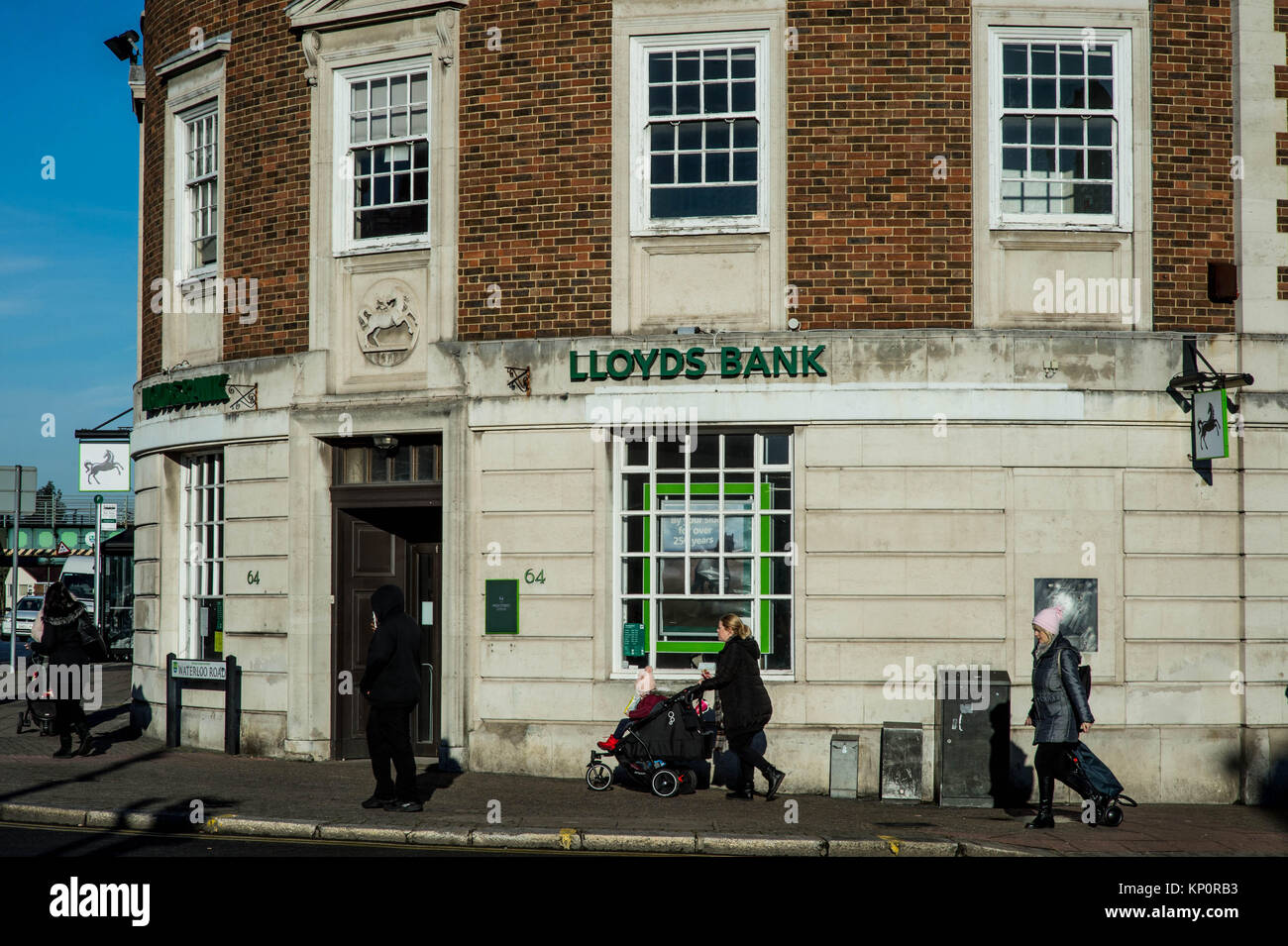 Lloyds Bank High Street Branch Retail Outlet - Stock Image