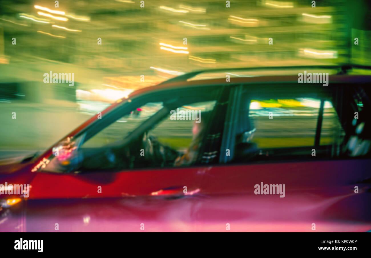 night city traffic - Stock Image