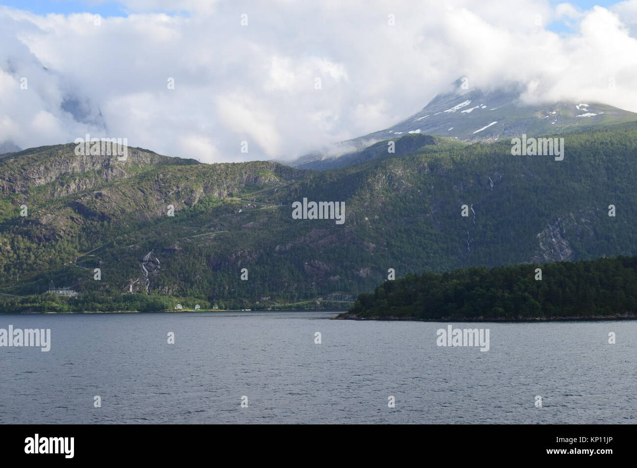 Cruising round Nordfjord, Sogn og Fjordane, Norway 2017 - Stock Image