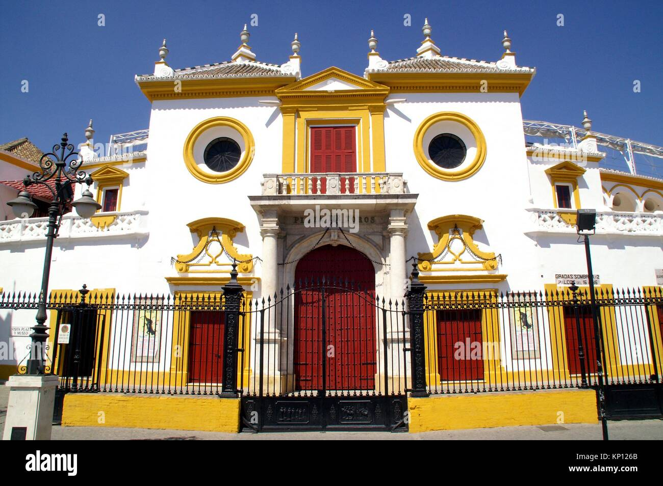 Sevilla (Spain). Bullring of the Real Maestranza de Caballería de Sevilla. - Stock Image
