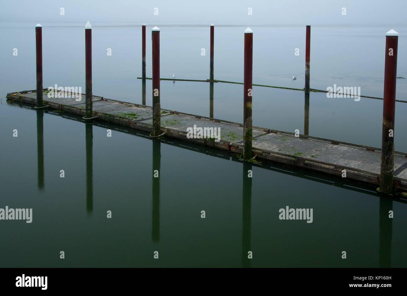 Port of Alsea Moorage Dock, Robinson Park, Waldport, Oregon. - Stock Image