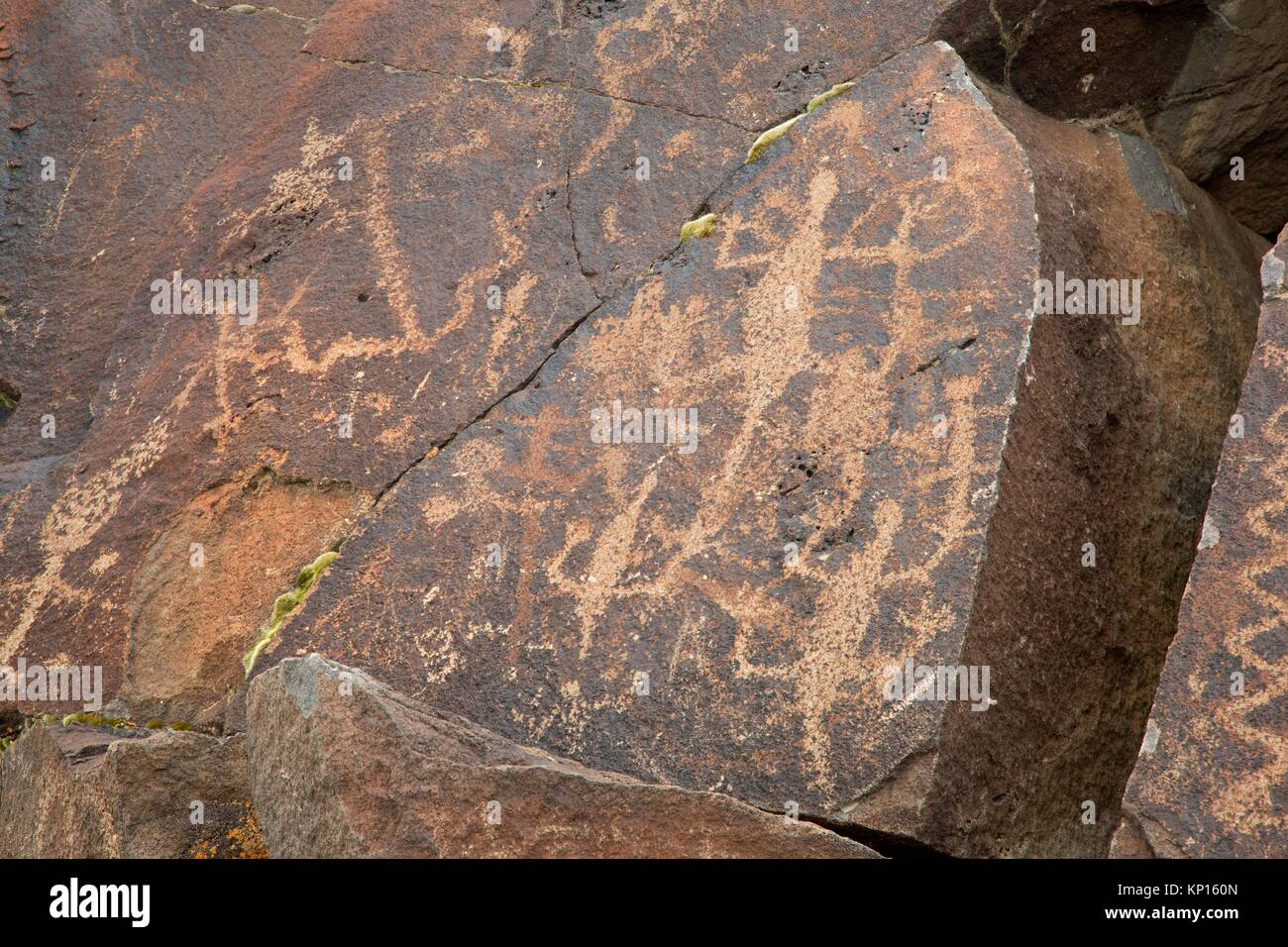 Greaser Petroglyphs, Lakeview District Bureau of Land Management, Oregon. - Stock Image