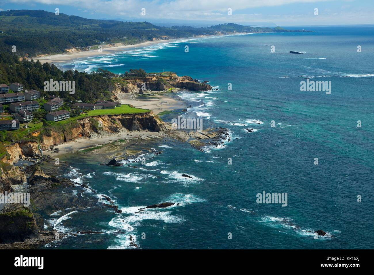 Otter Crest, Cape Foulweather State Park, Oregon. - Stock Image