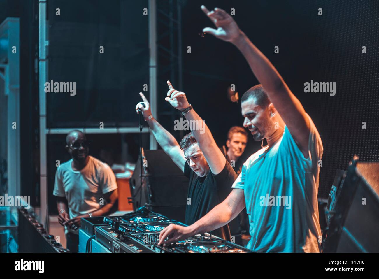 Dj hardwell b2b afrojack at music festival starbeach beachflirt dj hardwell b2b afrojack at music festival starbeach beachflirt dress in white party on 17 july 2017 in hersonissos crete greece they played altavistaventures Image collections