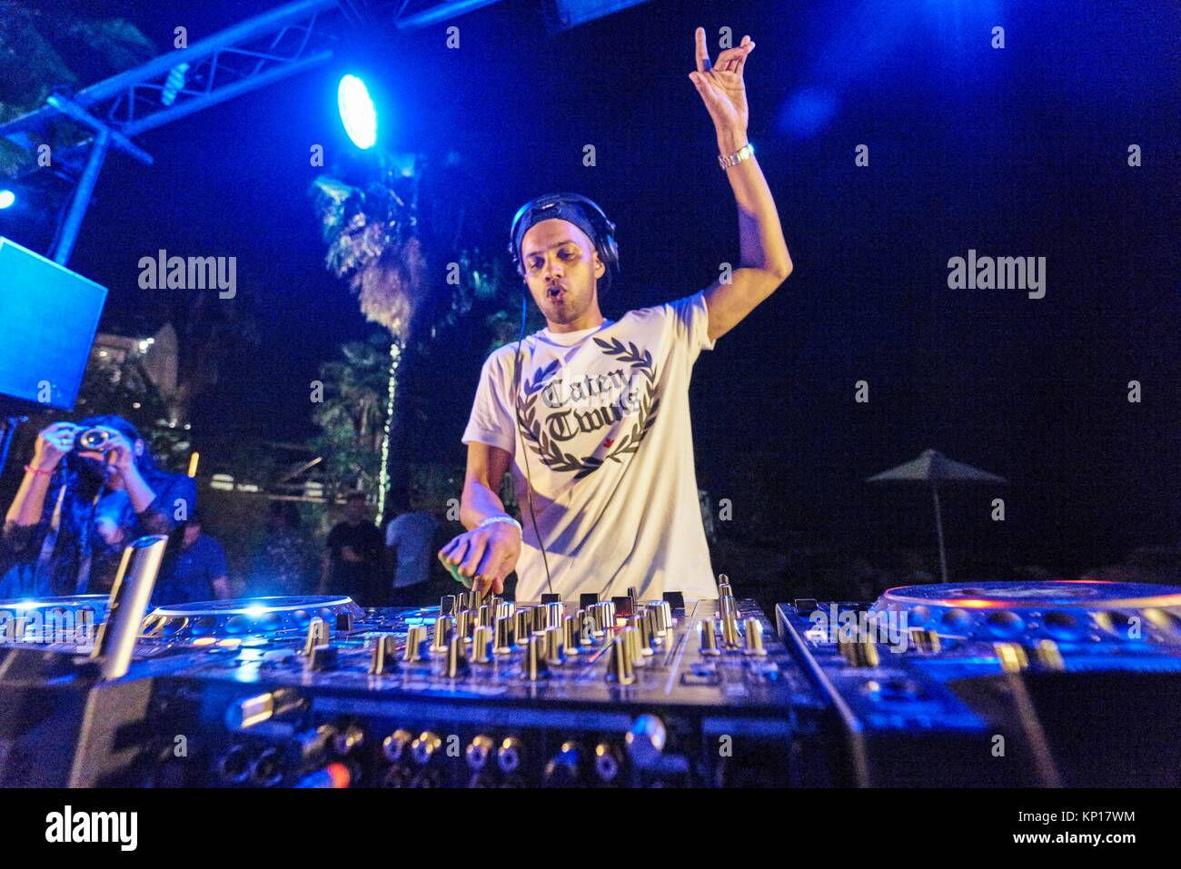 DJ Artistic Raw playing at Starbeach Beach Party on 04. September 2017 - Stock Image