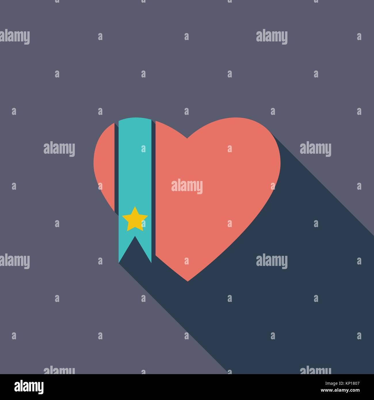 Heart icon - Stock Image