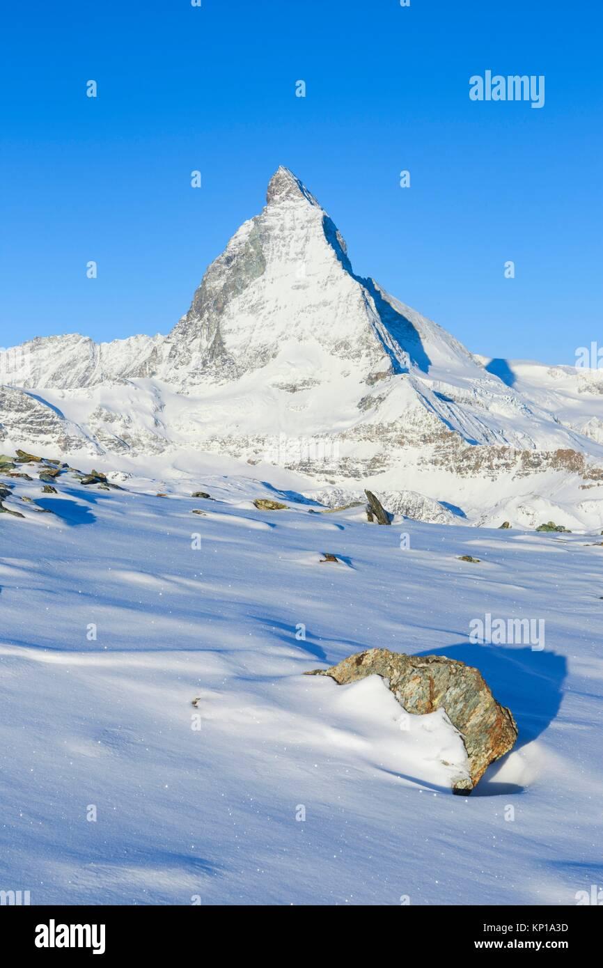 Matterhorn - 4478 m, Zermatt, Wallis, Switzerland. - Stock Image