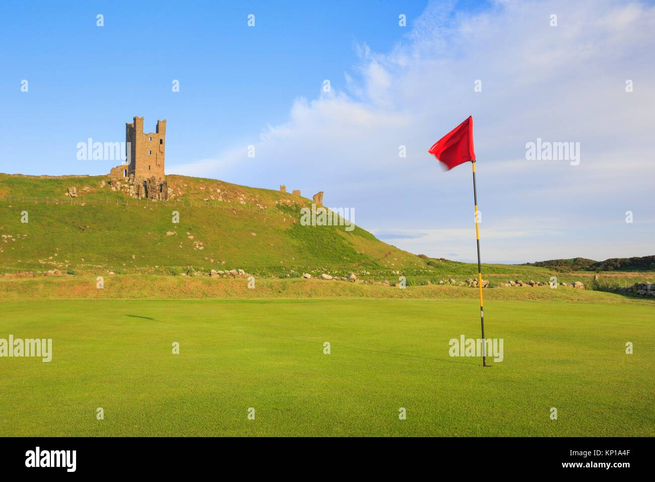 Dunstanburgh Castle Golf course, Great Britain. - Stock Image