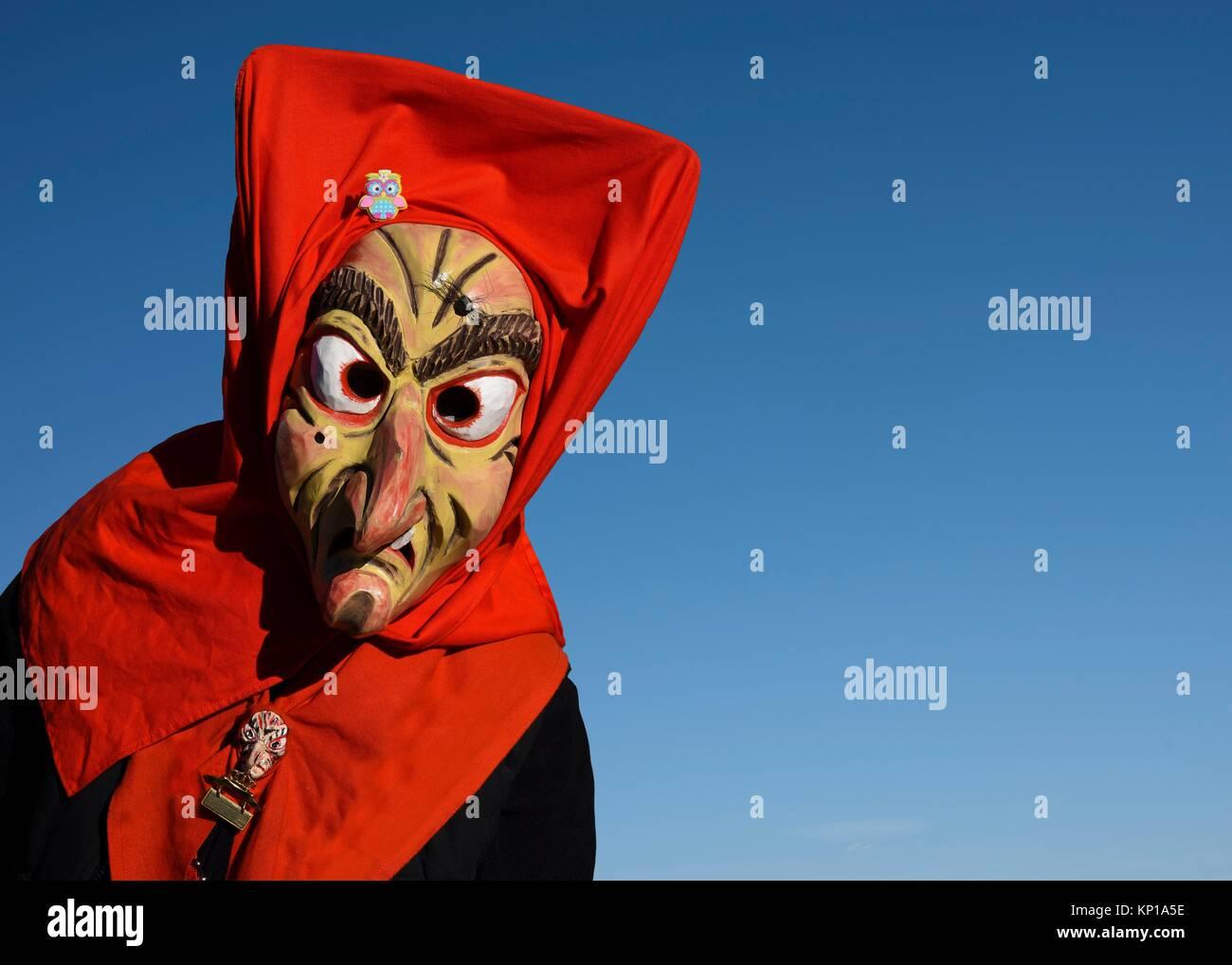 Swabian-Alemannic carnival ´Fasnet´ in South Germany-Germany, Europe. - Stock Image