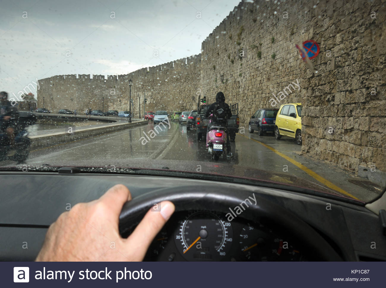 Europe, Greece, Rhodes Island, View Of Stock Photo