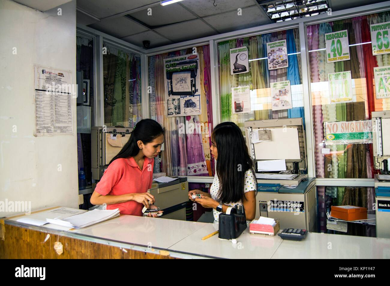 Photocopy and printing office, Legazpi City, Philippines - Stock Image