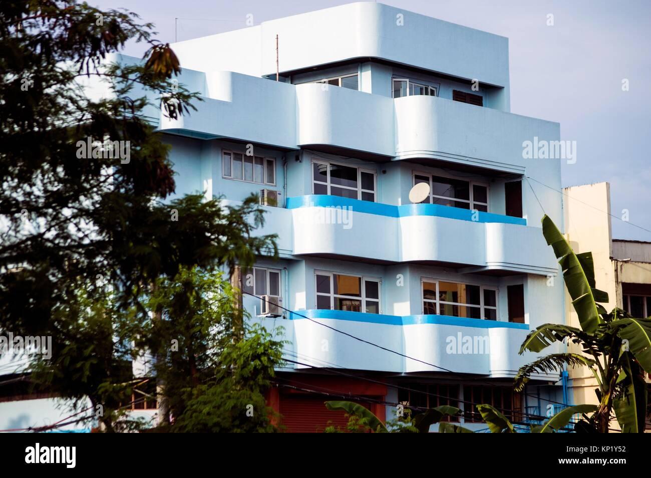 Art Deco Apartment Block, Legazpi City, Philippines   Stock Image