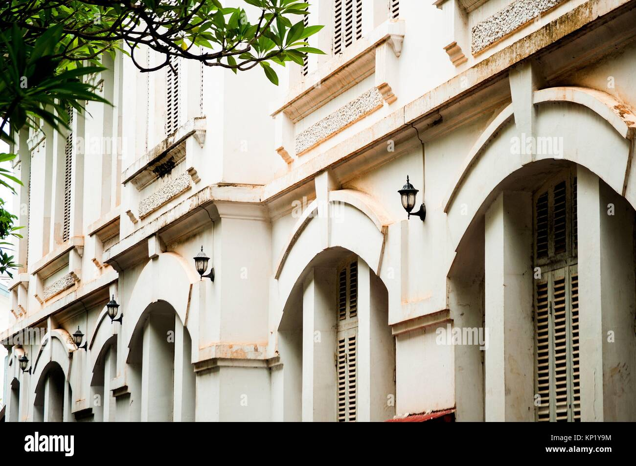 Laos French Colonial Architecture Stock Photos Laos French