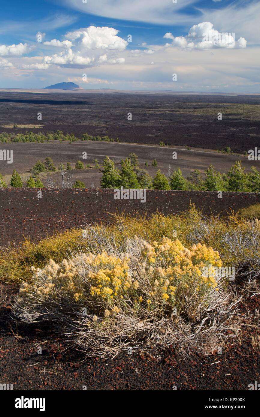 View from Inferno Cone Trail, Craters of the Moon National Monument, Peaks to Craters Scenic Byway, Idaho. - Stock Image