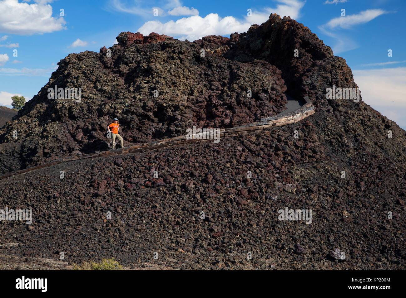 Spatter Cone, Craters of the Moon National Monument, Peaks to Craters Scenic Byway, Idaho. - Stock Image