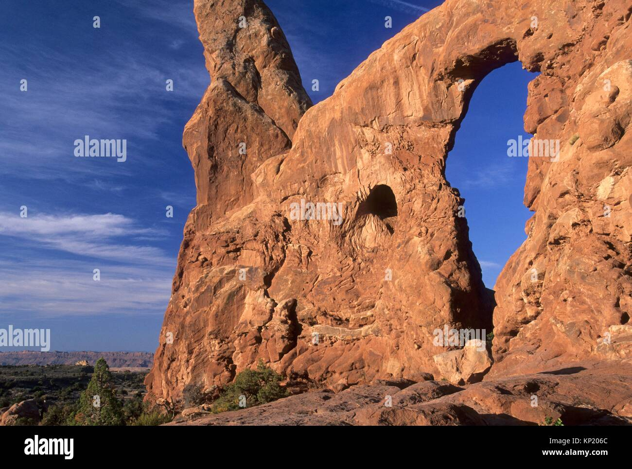 Turret Arch, Arches National Park, Utah. - Stock Image