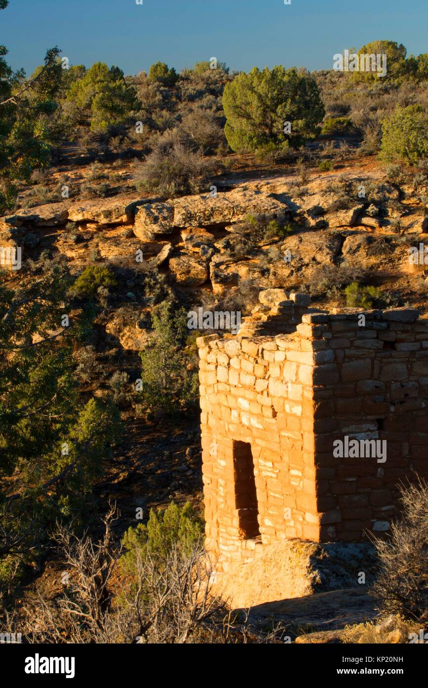 Stronghold House, Hovenweep National Monument, Utah. - Stock Image