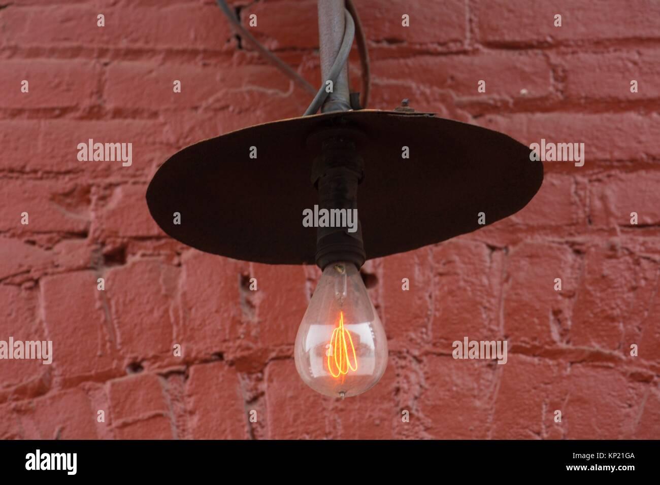 Old lamp, Silverton, Oregon. - Stock Image
