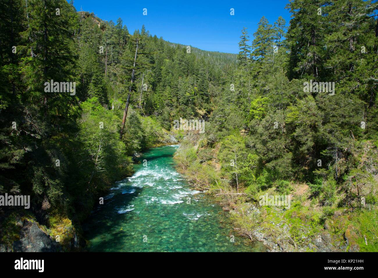 South Fork Smith River, Smith River National Recreation Area, Smith Wild and Scenic River, Six Rivers National Forest, - Stock Image