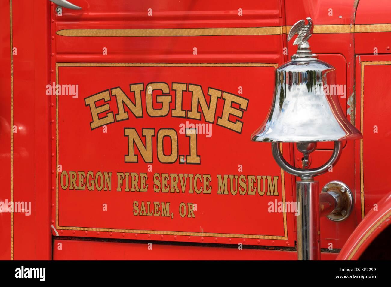 "1950 Kenworth â. "" Howard Cooper pumper fire truck, Great Oregon Steam-Up, Antique Powerland, Brooks, Oregon. - Stock Image"