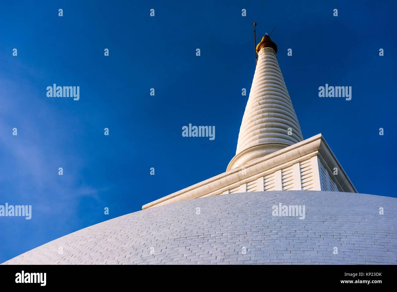 Pinnacle of Maha Seya Stupa, Mihintale Monastery, Anuradhapura District, North Central Province, Sri Lanka, Asia. - Stock Image