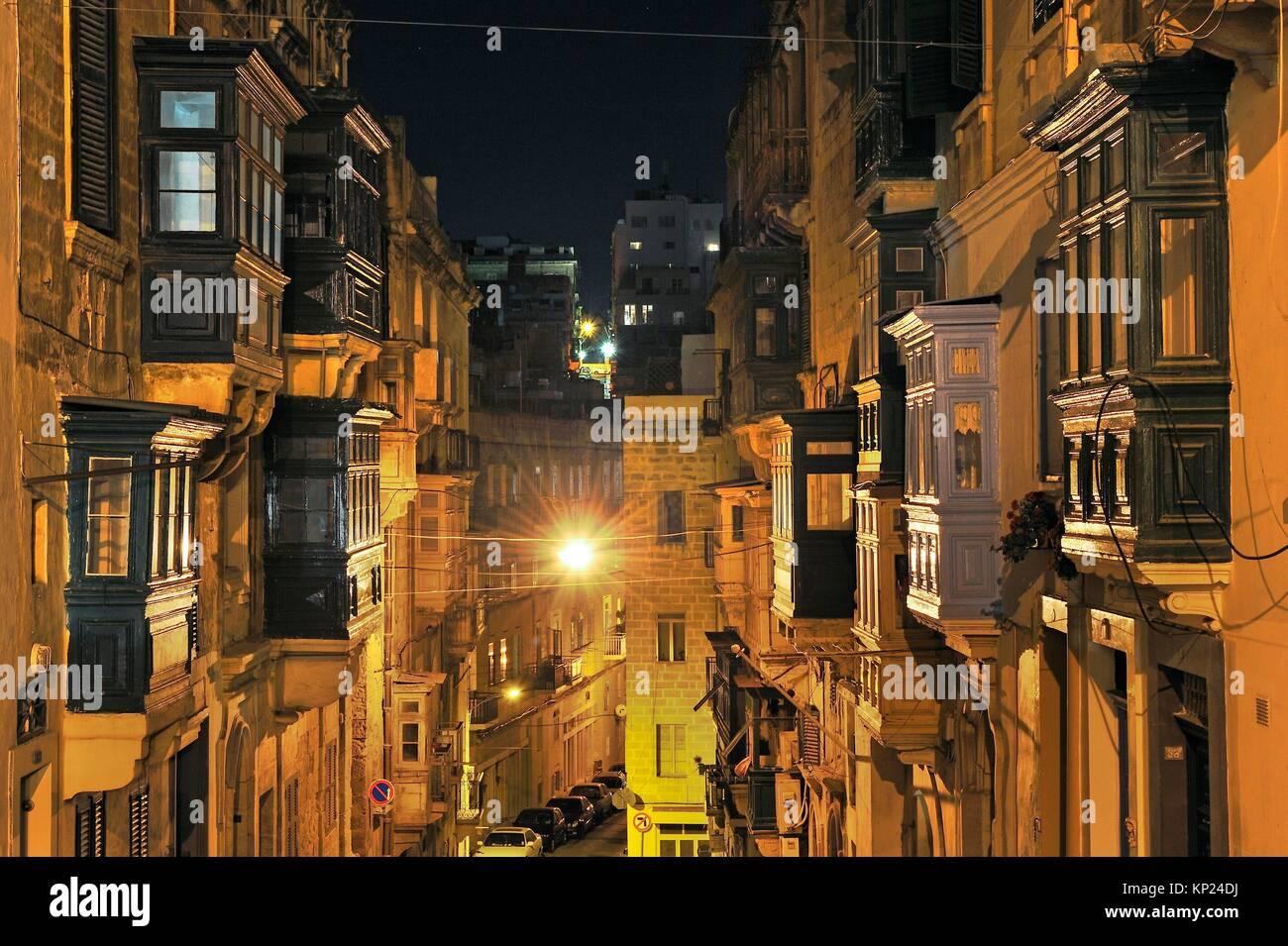 West Steet, Valletta, Malta, Southern Europe. - Stock Image