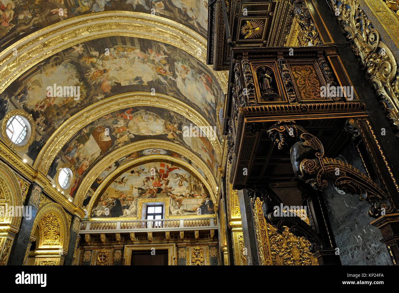 nave of Saint John´s Co-Cathedral, Valletta, Malta, Southern Europe. - Stock Image