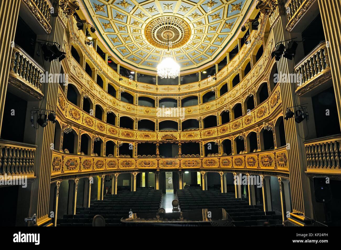 Manoel Theatre, 115 Old Theatre Street, Valletta, Malta, Southern Europe. - Stock Image