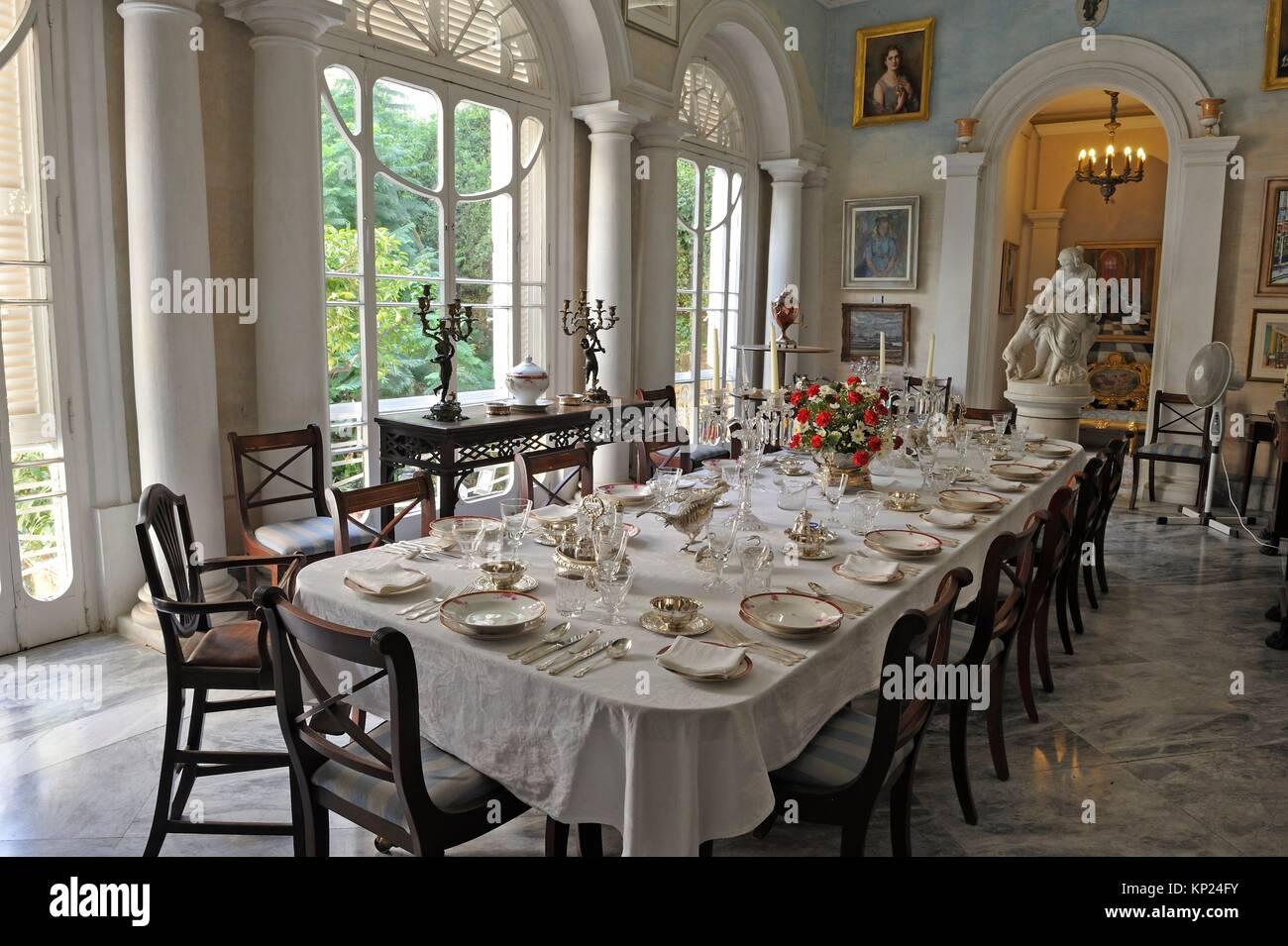 dining room, Casa Rocca Piccola, Valletta, Malta, Southern Europe. - Stock Image